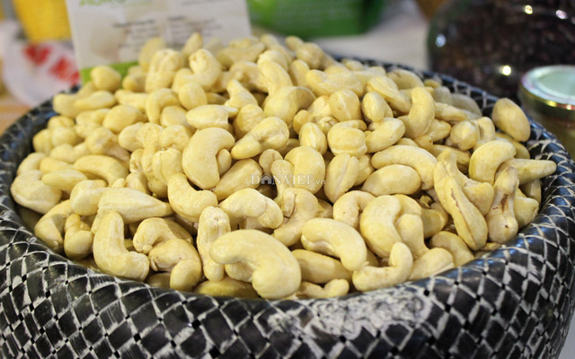 Cashew nut exports increased slightly